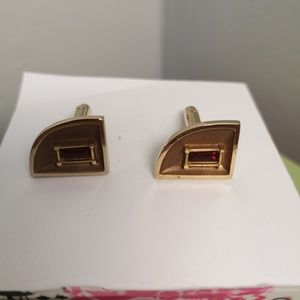 Other - Gold plated cufflinks with faux rubies.
